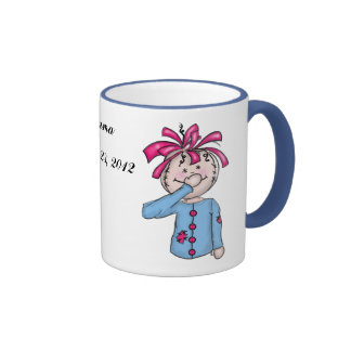 Personalized Baby's First Rag Doll Cartoon Ringer Coffee Mug