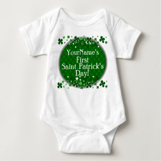 Personalized Baby's First Saint Patrick's Day T-shirt