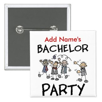 Personalized Bachelor Party Buttons