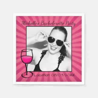Personalized Bachelorette Frame Napkin