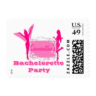 Personalized bachelorette party postage stamp