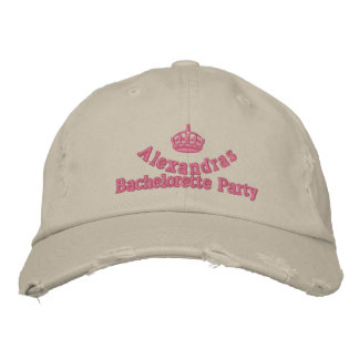 Personalized bachelorette party with crown embroidered hats
