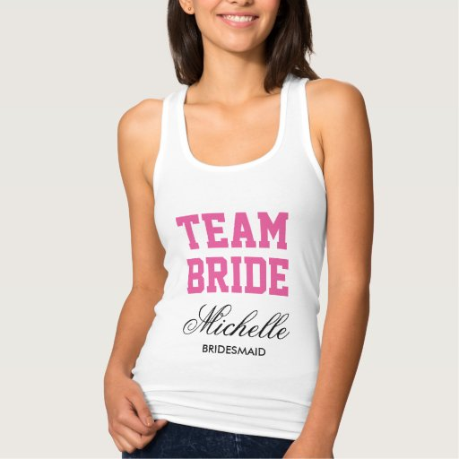 Personalized bachelorette tank tops for team bride Tank Tops, Tanktops Shirts