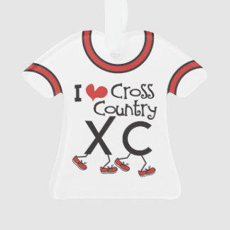 PERSONALIZED Back I heart Cross Country Running XC Ornament