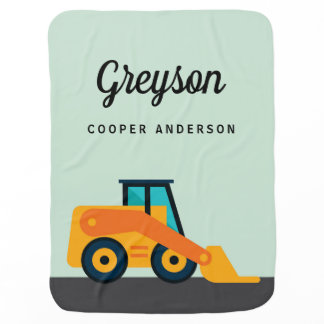 Personalized Backhoe Construction Blanket