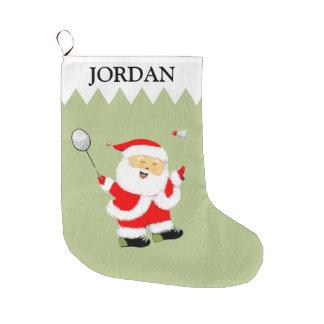 personalized badminton gift large christmas stocking