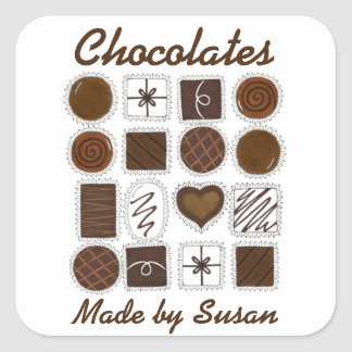 Personalized Baked Made by Chocolate Candy Sticker