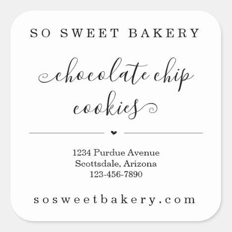 Personalized Bakery Food Sticker