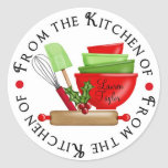 Personalized Baking Cooking Kitchen Stickers