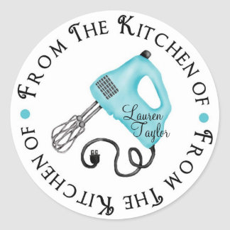 Personalized Baking Hand Mixer Kitchen Stickers