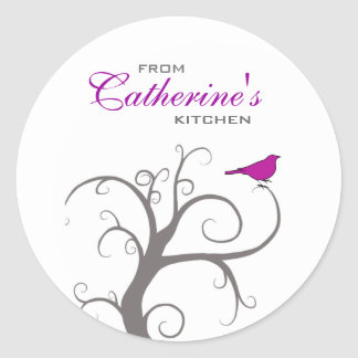 Personalized Baking, Jam, Sauce, Canning, Product Classic Round Sticker