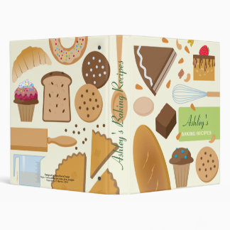 Personalized Baking Recipes Binder