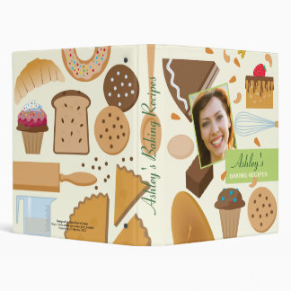 Personalized Baking Recipes Binder with Photo
