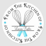 Personalized Baking Whisk Kitchen Stickers