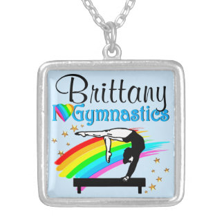 PERSONALIZED BALANCE BEAM QUEEN GYMNAST NECKLACE