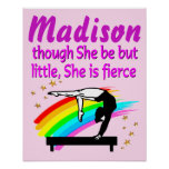 PERSONALIZED BALANCE BEAM QUEEN GYMNASTICS POSTER