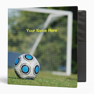 Personalized Ball and Goal 3 Ring Binder