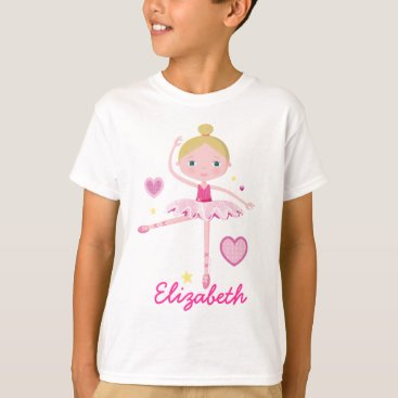 Valentines Themed Personalized Ballerina A T-Shirt