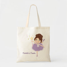 Personalized Ballerina Halloween Treat Bag at Zazzle