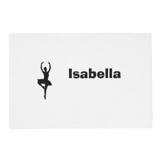 Personalized Ballerina Placemat