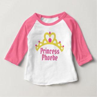 Personalized Ballerina Princess Baby T-Shirt