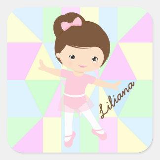 Personalized Ballerina Sticker