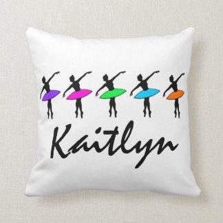 Personalized Ballet Dance Ballerina Dancer Pillow
