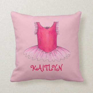 Personalized Ballet Dancer Ballerina Tutu Pillow