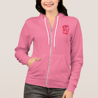 Personalized Ballet Pointe Shoes Dancer Hoodie