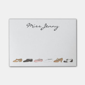 Personalized Ballet Tap Dance Teacher Gift Post-It Post-it Notes