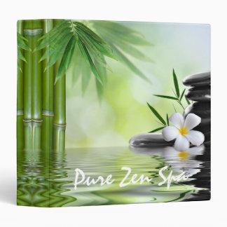 Personalized Bamboo Zen Stones Water Plumeria Binder