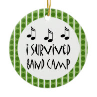Personalized Band Camp Music Ornament Gift