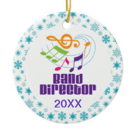 Personalized Band Director Christmas Gift Christmas Tree Ornament