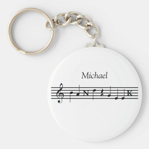 Personalized Band Geek Keychain