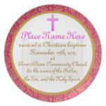 Personalized Baptism Commemorative Plate Plaque