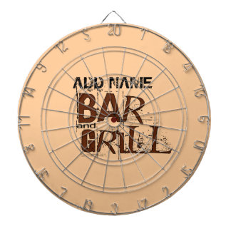 Personalized Bar and Grill BBQ Dad Food Eat Dart Boards