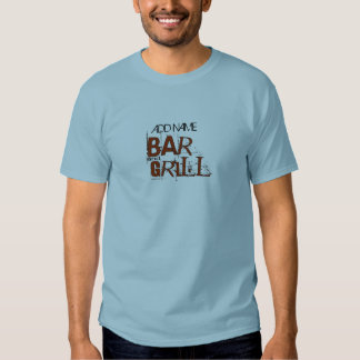 Personalized Bar and Grill BBQ Dad Food Eat T-shirt