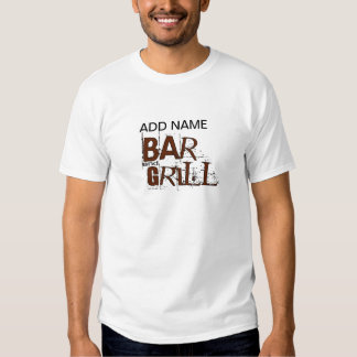 Personalized Bar and Grill BBQ Dad Food Eat Tee Shirt
