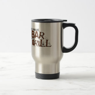 Personalized Bar and Grill BBQ Dad Food Eat Travel Mug