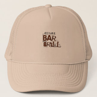 Personalized Bar and Grill BBQ Dad Food Eat Trucker Hat