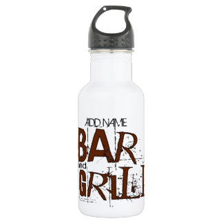 Personalized Bar and Grill BBQ Dad Food Eat Water Bottle