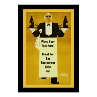 Personalized Bar/Restaurant Posters