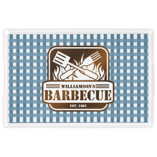 Personalized Barbecue Acrylic Tray