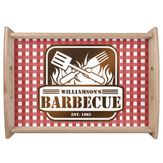 Personalized Barbecue Serving Tray