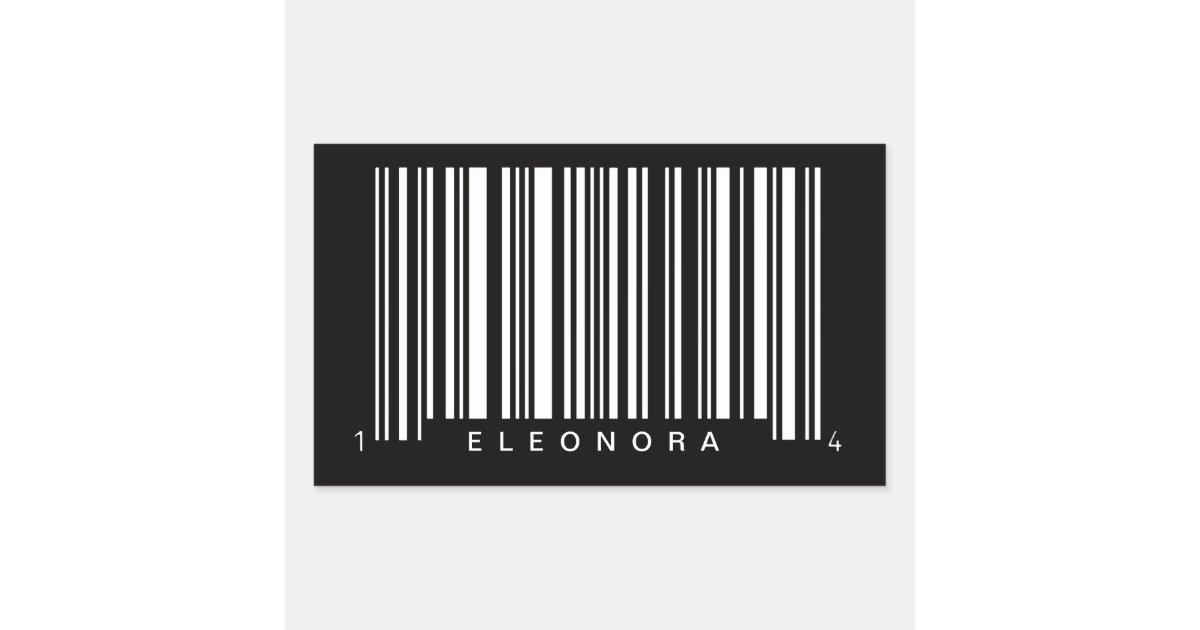 personalized barcode striped design rectangular sticker