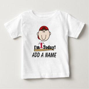 Personalized Baseball 1st Birthday T Shirt