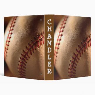 PERSONALIZED Baseball 3 ring BINDER