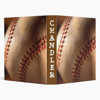 PERSONALIZED Baseball 3 ring BINDER