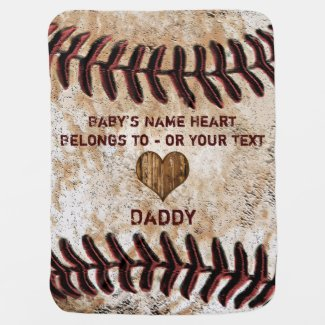 Personalized Baseball Baby Blanket