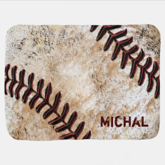 Personalized Baseball Baby Blanket Baby's NAME